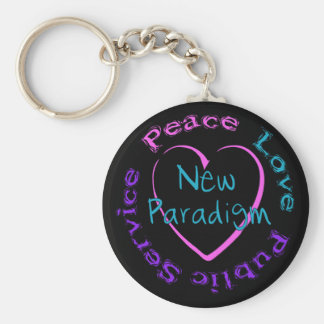 Peace Love Service Keychain