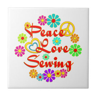PEACE LOVE Sewing Tiles