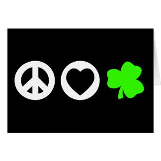 Peace Love Shamrock Greeting Cards