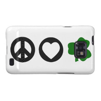 Peace Love Shamrock Galaxy S2 Case