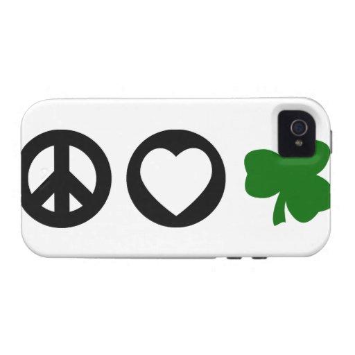 Peace Love Shamrock iPhone 4 Covers