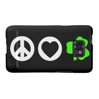 Peace Love Shamrock Galaxy S2 Cover