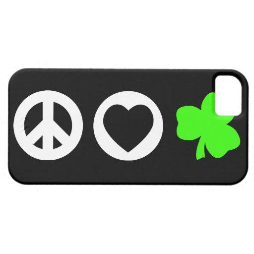 Peace Love Shamrock iPhone 5 Covers