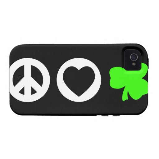 Peace Love Shamrock Case-Mate iPhone 4 Covers