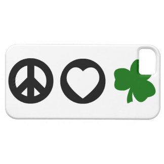 Peace Love Shamrock Case For The iPhone 5