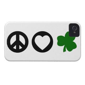 Peace Love Shamrock Case-Mate iPhone 4 Cases