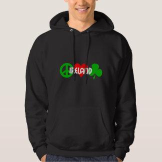 Peace love shamrock hoodie