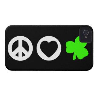 Peace Love Shamrock iPhone 4 Cases