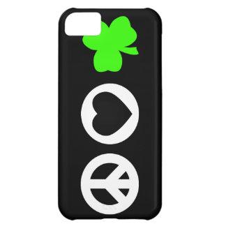 Peace Love Shamrock iPhone 5C Case