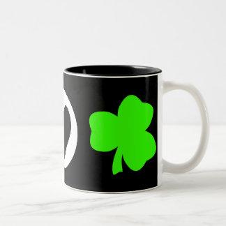 Peace Love Shamrock Coffee Mugs