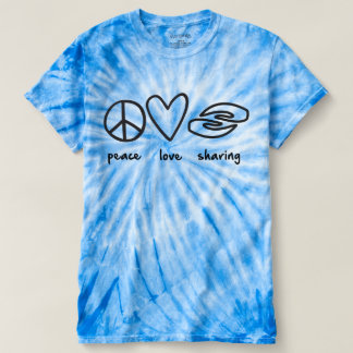 Peace Love Sharing Ladies Tie-dye T-Shirt