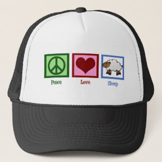 Peace Love Sheep Trucker Hat