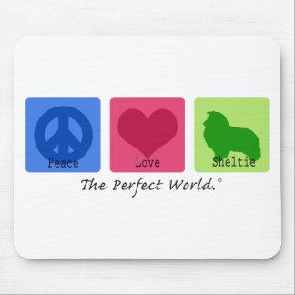 Peace Love Sheltie Mouse Pad