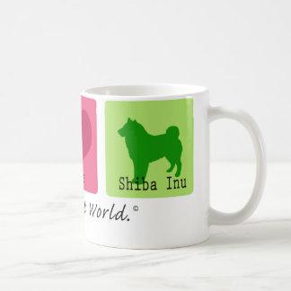 Peace Love Shiba Inu Coffee Mug
