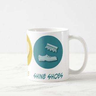 Peace Love Shine Shoes Basic White Mug