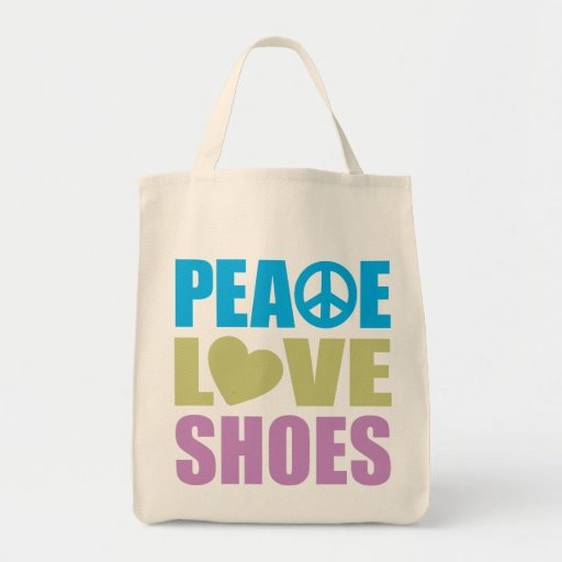Peace Love Shoes Canvas Bag