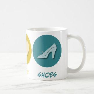 Peace Love Shoes Basic White Mug