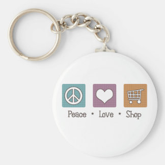 Peace Love Shop Basic Round Button Key Ring