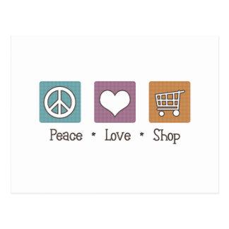 Peace Love Shop Postcard
