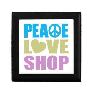 Peace Love Shop Small Square Gift Box