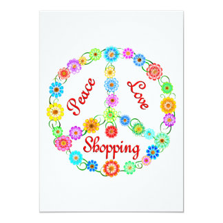 Peace Love Shopping Card