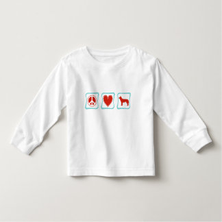 Peace Love Siberian Huskies Squares Shirt