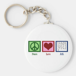 Peace Love Sign Language Key Ring