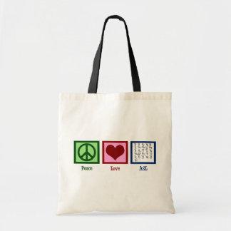 Peace Love Sign Language Tote Bag