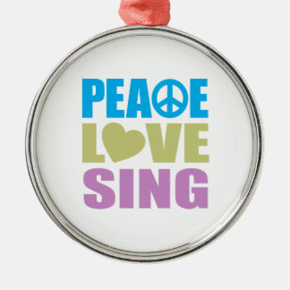 Peace Love Sing Christmas Ornament