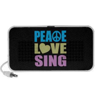 Peace Love Sing Laptop Speakers