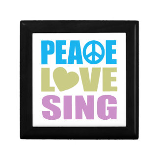 Peace Love Sing Small Square Gift Box