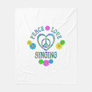 Peace Love Singing Fleece Blanket