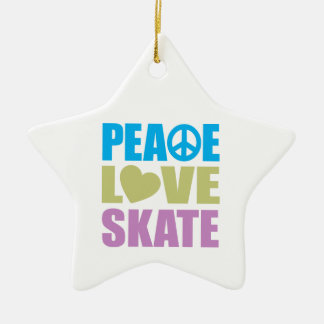 Peace Love Skate Christmas Ornament