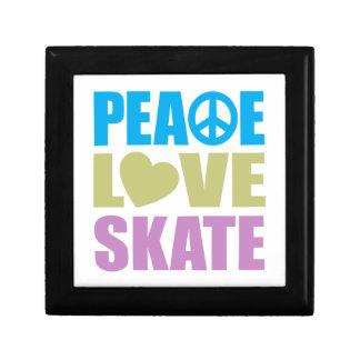 Peace Love Skate Small Square Gift Box