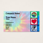 Peace, Love, Skateboard Business Card
