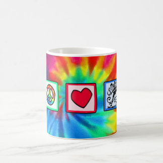 Peace, Love, Skateboard Mug
