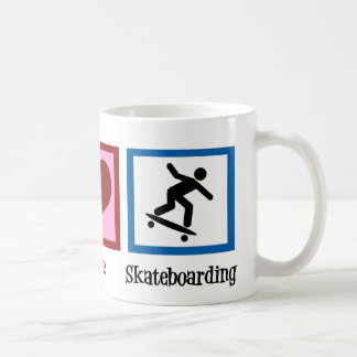 Peace Love Skateboarding Coffee Mug