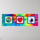 Peace, Love, Skateboarding Poster