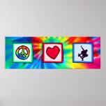 Peace, Love, Skateboarding Print