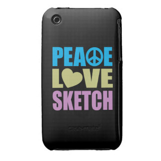 Peace Love Sketch iPhone 3 Case-Mate Case