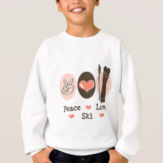 Peace Love Ski Kids Sweatshirt