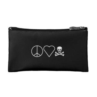 Peace Love & Skull Cosmetic Bag