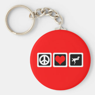 Peace love skydiving keychain