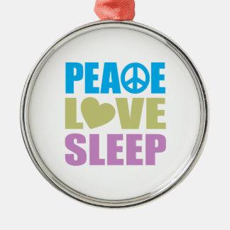 Peace Love Sleep Christmas Ornament