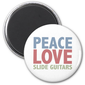 Peace Love Slide Guitars Magnet