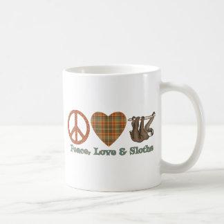 Peace, Love & Sloths Basic White Mug