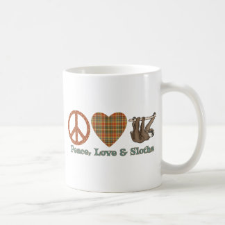 Peace, Love & Sloths Coffee Mug