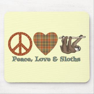 Peace, Love & Sloths Mouse Mat