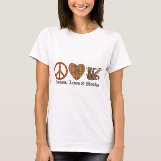 Peace, Love & Sloths T-Shirt