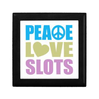 Peace Love Slots Small Square Gift Box